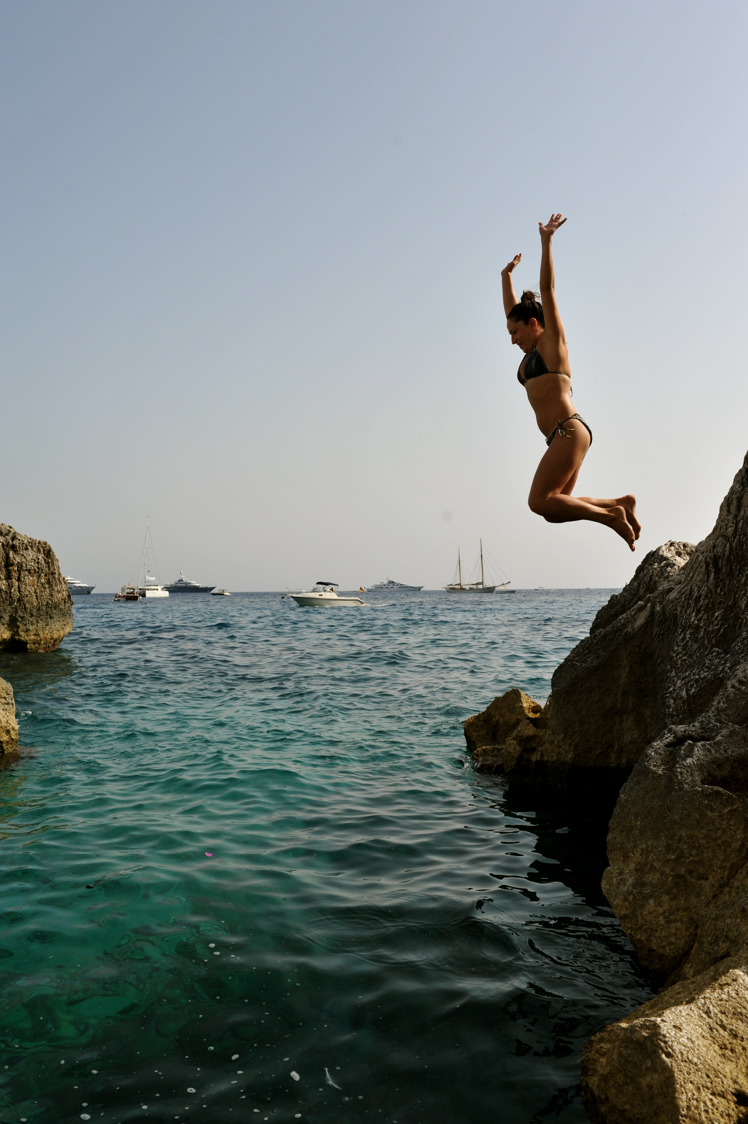 Girl Jumping Of...