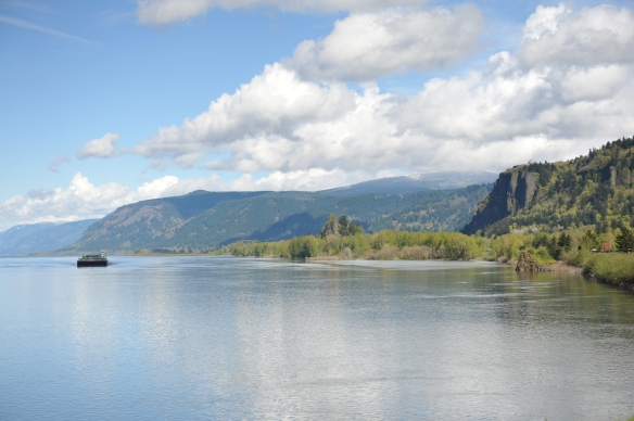 View of Vista House, Columbia River Gorge, OR