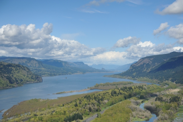 View from Vista House, Columbia River Gorge, OR