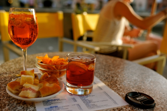 Negroni & Aperol Spritz for happy hour